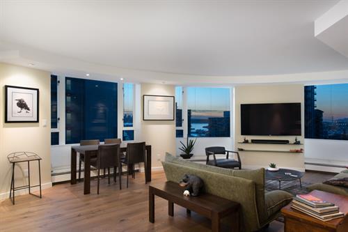 North Vancouver Condo Living Room