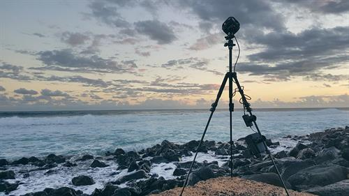 GoPro Omni 360 camera during Hawaii shoot