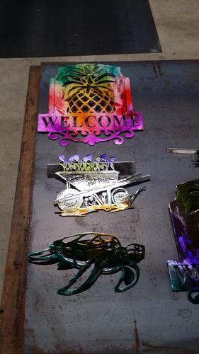 Custom made metal art here in Farmville, VA