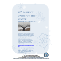 19th District Warm for the Winter