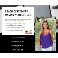 Reach Customers Online with Google Presented by Google Trainer Erin Bemis