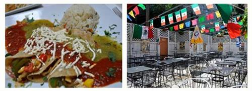 Enchiladas Vegano & Our Summer Patio