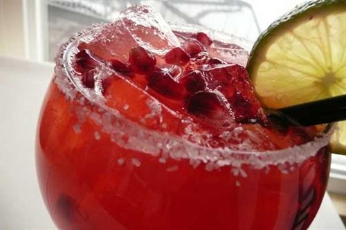 Pomegrante Margaritas