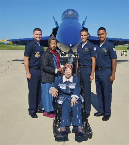 Brookdale Resident Ida Settle and her sister are granted their Wish of a Lifetime - to meet the Blue Angels!