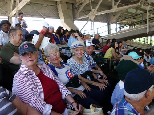 Brookdale Lake View residents at Wrigley Field - go Cubs!