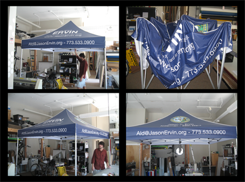 10ft x 10ft Custom Canopy tent.