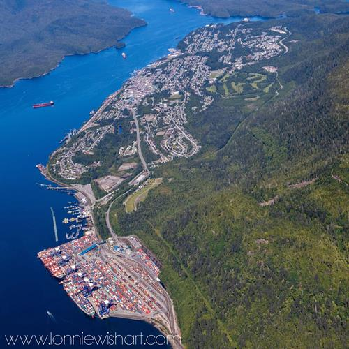 City of Prince Rupert from air July 2020
