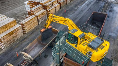 Bulk unloading of energy products from railcar