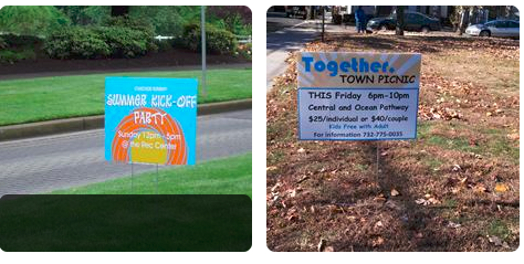 yard signs, single sided, double sided