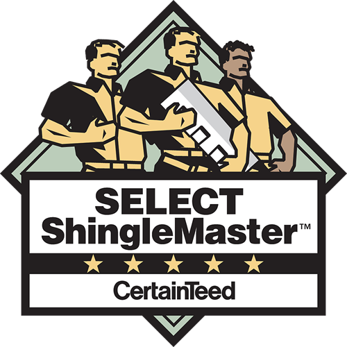 We are Select Shingle Master Certified by CertainTeed