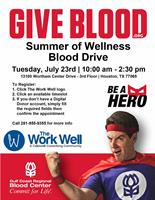 The Work Well Summer Of Wellness Blood Drive