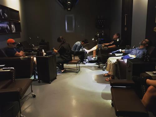 Pedicures and manicures.