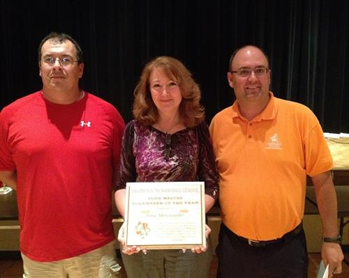 "Biloxi Youth Baseball Honors Jane Meynardie with ""Todd Migues Volunteer of the Year"" Award."