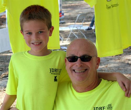 Grayson Walker and Bubba Howell at the JDRF Rocking for a Cure Walk October 15, 2016