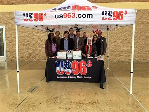 IPS employees volunteering for the US 96.3 Stuff the Truck to benefit the Salvation Army Angel Tree