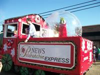 We had a great time at the Christmas Parade!
