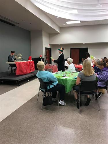 Our director of sales, Michael Durr, MC'd bingo at the Brandon Senior Citizen Center