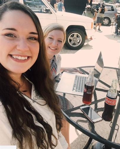 Birttany Buie, Marketing Directory and LIndsey Hilton, Graphic Designer