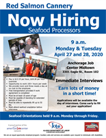 Red Salmon Is Recruiting At the Anchorage Midtown Job Center!