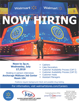 Midtown Walmart Is Now Recruiting At The Anchorage Midtown Job Center