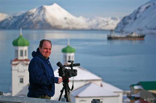 Steve G filming in Unalaska, Alaska
