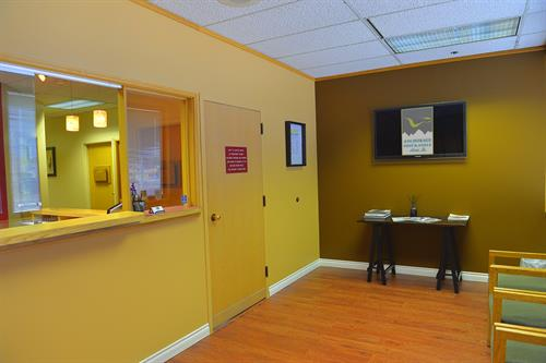 We remodeled the office - looks like a 21st century facility now!  Gone is the 1980's decor!