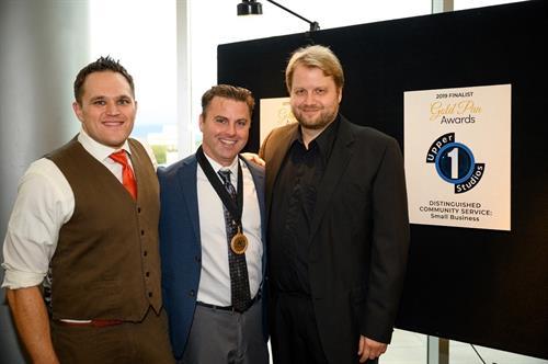 Tom, Rick, and Jim at 2019 Gold Pan Awards