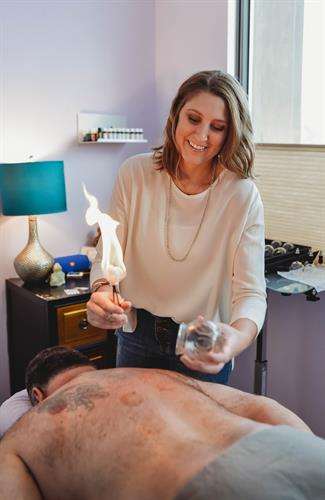 Fire Cupping - included in our acupuncture treatments or can be used as a stand alone treatment