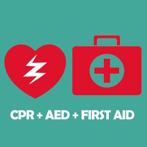 CPR, 1st aid, and AED certification offered