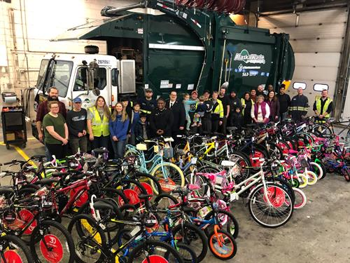 Our team built more than 75 bikes for children in need during Christmas 2019.