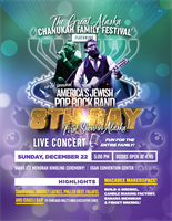 The Great Alaska Hanukkah Family Festival & Live Concert with World Renowned America's Jewish Rock Band - 8th Day