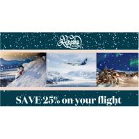 Save up to 25% on Flights to Alaska & Ski in over 470'' inches of snow!