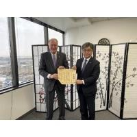 Greg Wolf Receives the Japan Minister of Foreign Affairs Award