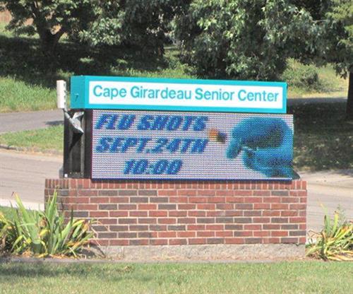Cape Girardeau Senior Center (Digital Message Center)
