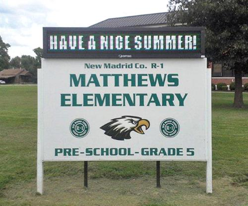 New Madrid Matthew Elementary (Directory Sign, Message Cenetr, and Post & Panel Signs)
