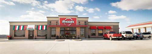 Rhodes most recent generation of store concepts include and operate Imo's Pizza franchises like its Poplar Bluff, Mo. store.