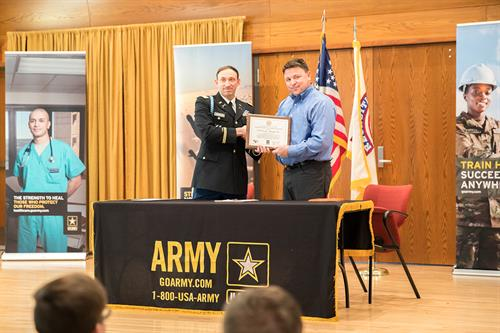 Rhodes was founded by Gene Rhodes, a US Army veteran.  The company is one of the few US Army PaYS Partners in Missouri.  The partnership recognizes Rhodes for guaranteeing veterans job interviews and possible employment.