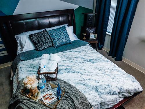 """Masculine bedroom queen size 10"""" memory foam bead"""