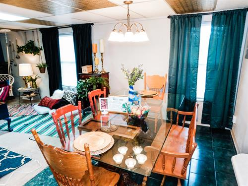 Unique dining room table and chairs