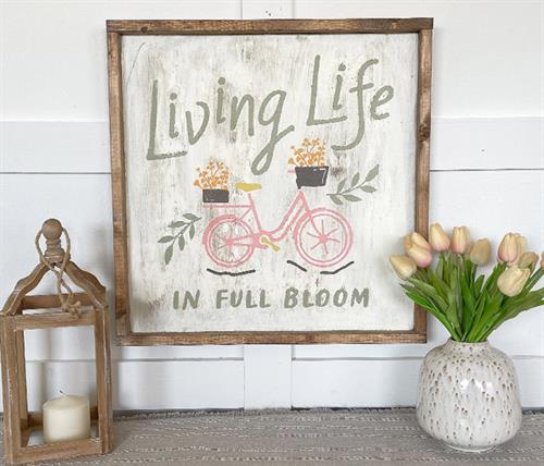 Gallery Image SPRING_-_Living_Life_in_Full_Bloom_Bike_22x22_Framed.jpg