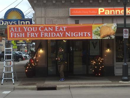 "Pannenkoeken ""All-You-Can-Eat"" Fish Fry Banner"