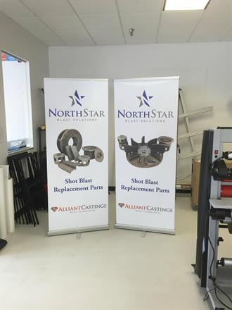 Alliant Castings & Northstar Retractor Banners for their Trade Show