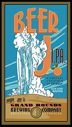 Grand Rounds Brewing Co. Beer J. IPA poster and label