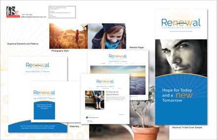 Rochester startup branding - logo, web, print, signage