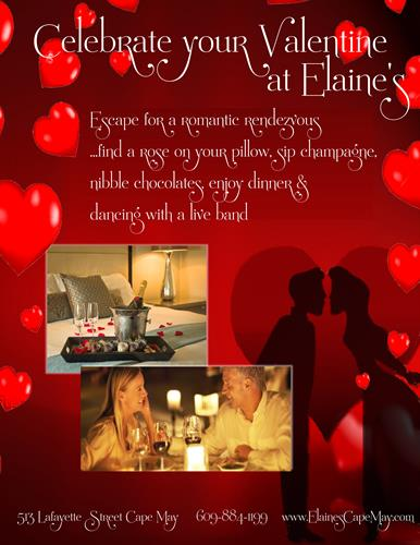 Celebrate Your Valentine At Elaineu0027s   Feb 14, 2018   Chamber Of Commerce  Of Greater Cape May, NJ
