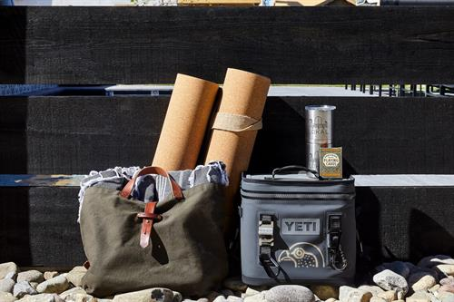 Beach bags, towels, Yeti Coolers and insulated mugs