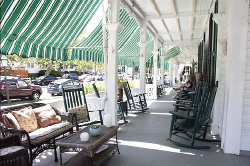 The Chalfonte porch- a perfect place to relax!