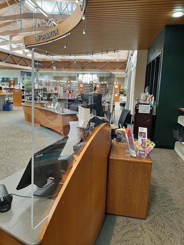 Acrylic Barriers at Burlington Public Library