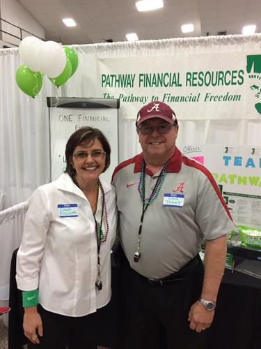 """""""Coach Elizabeth"""" and """"Coach Jimmy"""" at the Business Expo"""