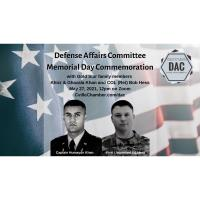 Defense Affairs Committee Memorial Day Commemoration